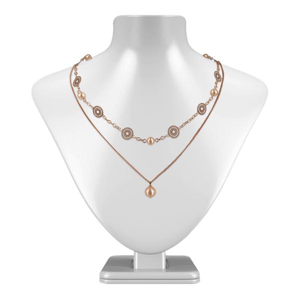 18K Gold Filled Graduated Pearl Necklace