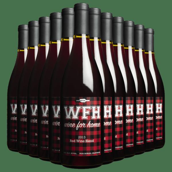 1 Case (12 Bottles) of WFH (Wine For Home) Red Blend