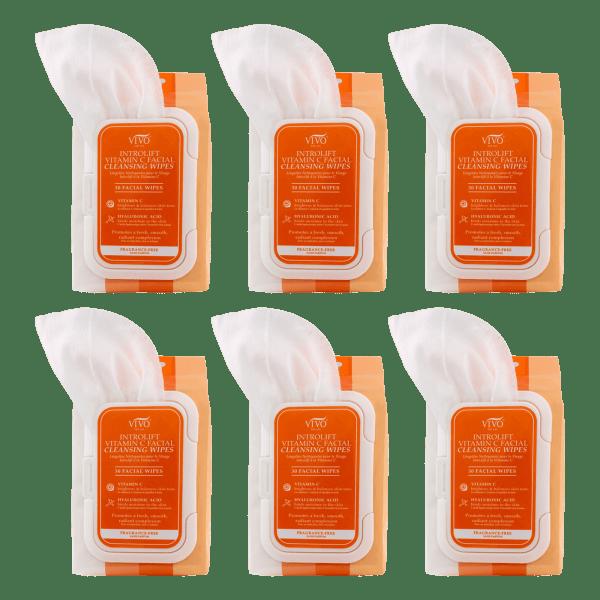 6-Pack: Vivo per Lei Vitamin C Wipes (180 total)