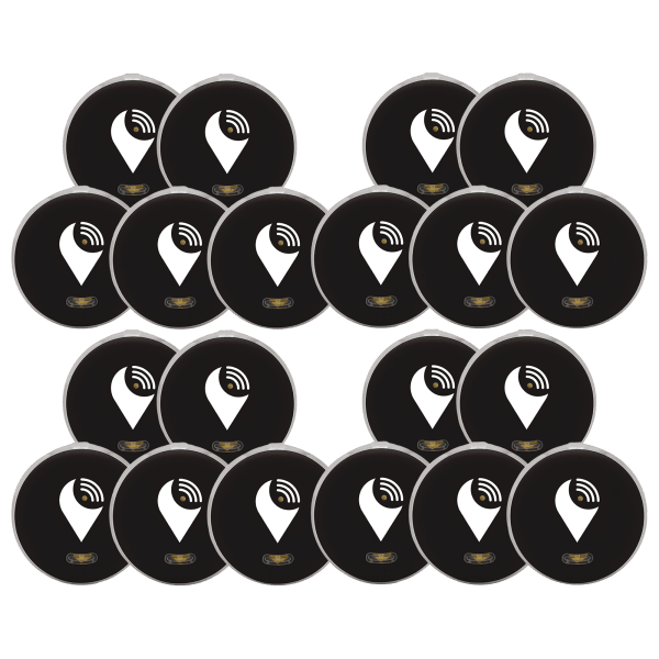 20-Pack: TrackR Pixel Bluetooth Tracking Devices with Extra BONUS Batteries