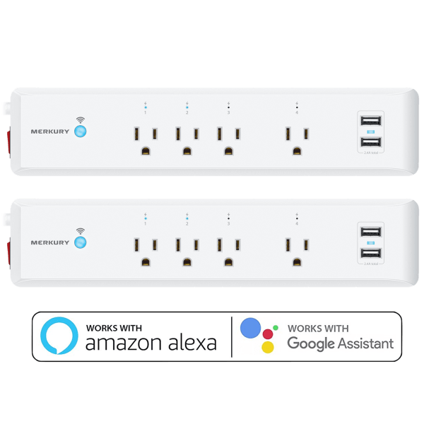 2-Pack: SmartSurge Wi-Fi Surge Protectors with 2 USB Ports