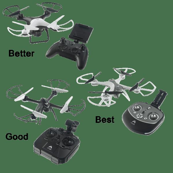 Good / Better / Best Avier Camera Drone