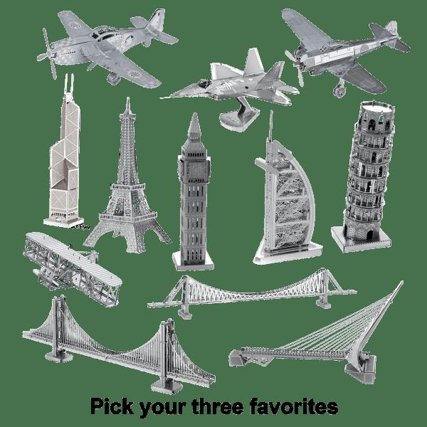 3-Pack: Model Technics Metal Puzzles