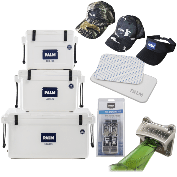 PALM Rotomolded Cooler with Accessory Kit (30, 45 & 90QT)