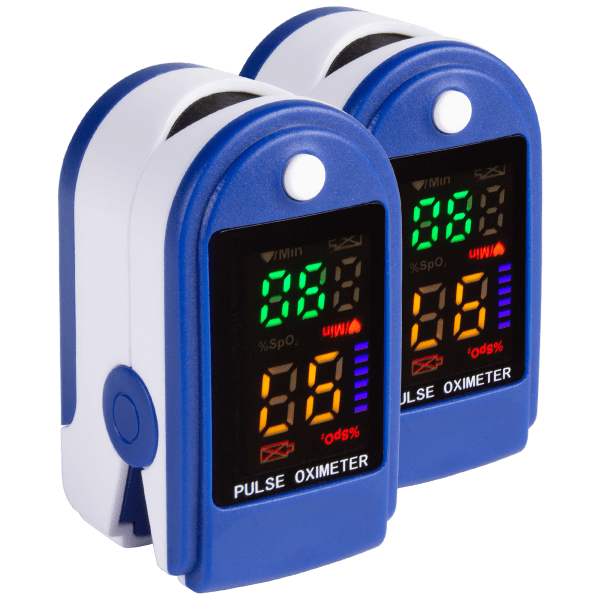 2-Pack: Fingertip Pulse Oximeter Blood Oxygen Saturation Monitor