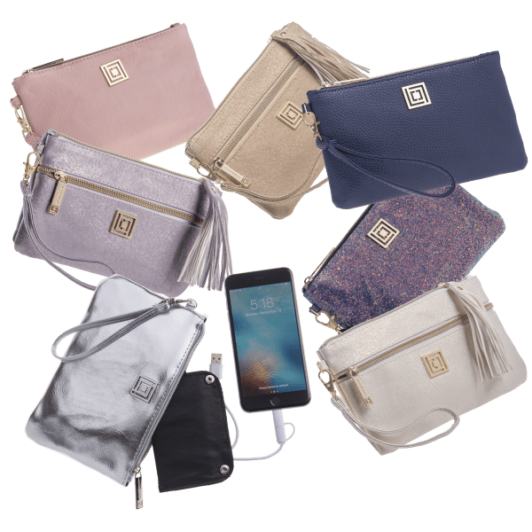 Pick-Your-2-Pack: Liz Claiborne Charging Wristlets with RFID protection