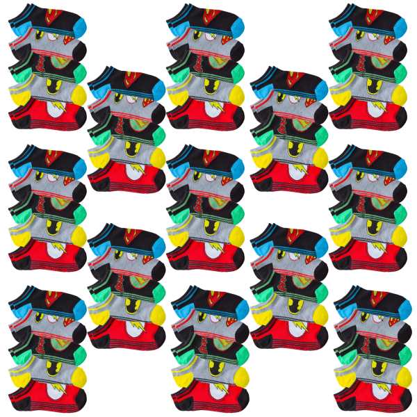 13-Packs of 5 Justice League Kids Socks (65 Total Pairs)