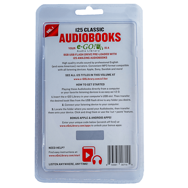 Ego 250 Classic Audiobooks Or 50 Kids Audiobooks Earbuds Set