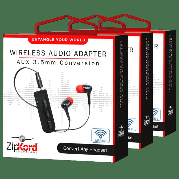 3-Pack: ZipKord 3.5mm Bluetooth Audio Adapter