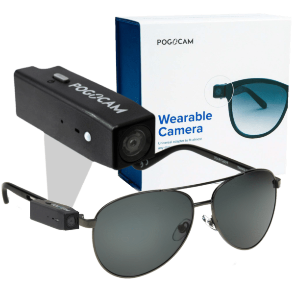 Pogocam Wearable HD Camera with 100% UV Pogotrack Sunglasses