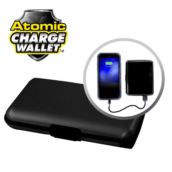 ASOTV Atomic 2500 mAh Charge Wallet with RFID Protection