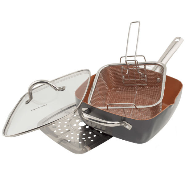 Copper Cook 6-in-1 Pan Set