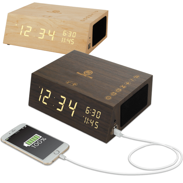 Go Groove Clock Radio and Bluetooth Speaker