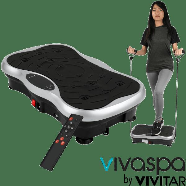 Vivaspa Whole Body Vibration Machine w/Bluetooth Speaker & Resistance Bands