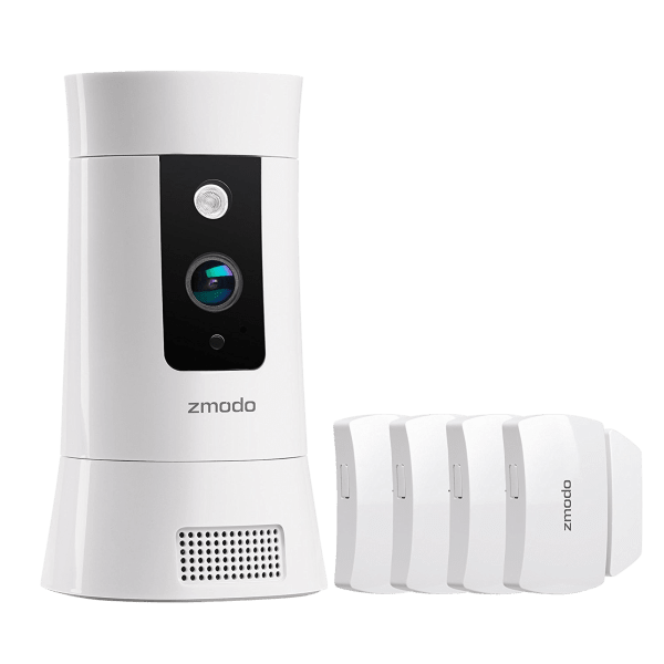 Zmodo Pivot Cloud Rotating Smart Camera with Four Door/Window Sensors