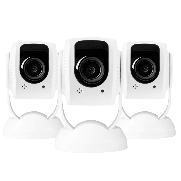 3-Pack: Lynx 1080p Security Cameras with Facial Recognition