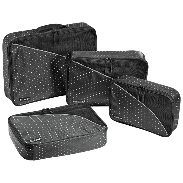 4-Pack: Fit & Fresh Packing Cubes