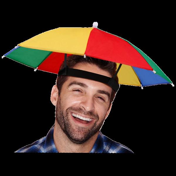 Rainbow Umbrella Hat