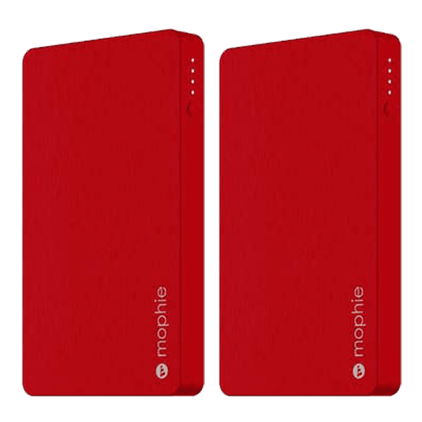 2-Pack: Mophie Powerstation 5,050 with Lightning Connector in Red