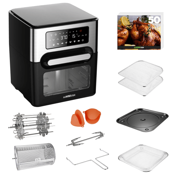 GoWise USA 12.7 QT Air Fryer Oven Select with Accessory Kit