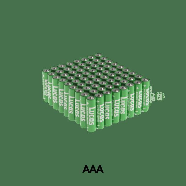 72-Pack: Lucas AAA Alkaline Batteries