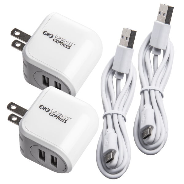 2-Pack: 2.4A Dual USB Charger