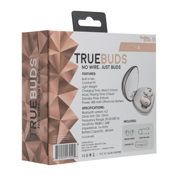 bf21794a837 TrueBuds Electrix True Wireless Bluetooth Earbuds with Charging Case