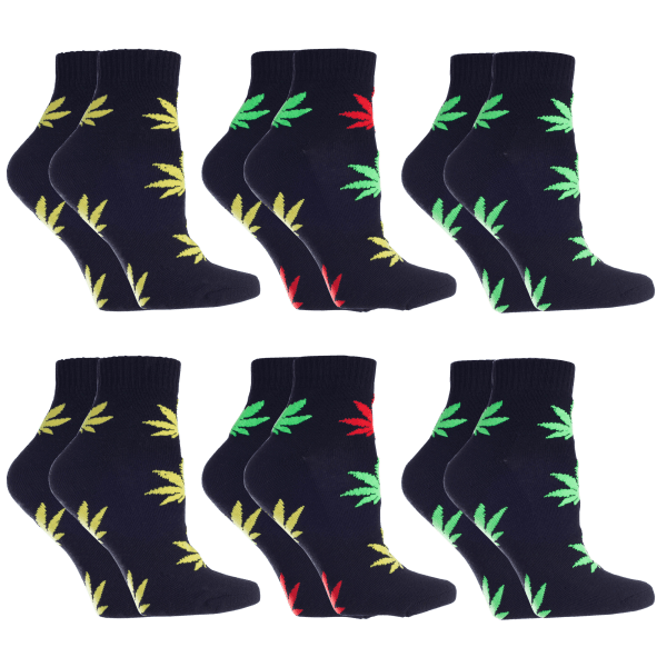 6-Pack: All Mixed Up Magic Grass Anklet Socks