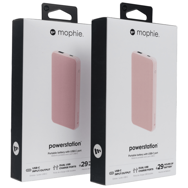 2-Pack of Mophie 8000mAH Power Banks with USB-C Charging