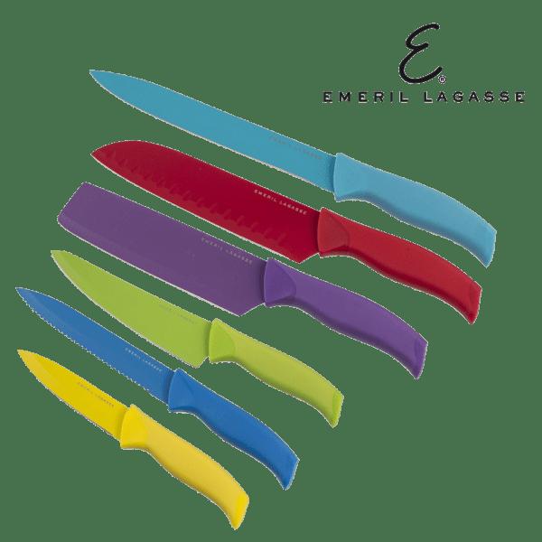 Emeril 6-Piece Multi Colored Knife Set