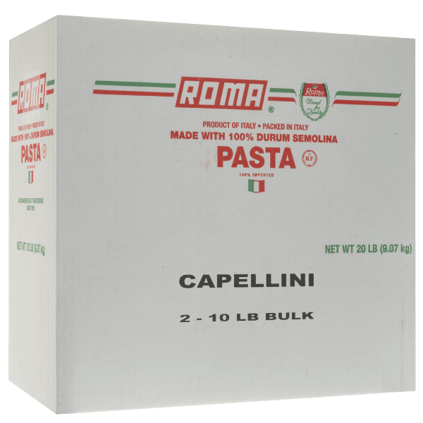 20lb Case of Roma Pasta Capellini (2 units of 10lb)