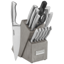 Cuisinart Classic 15-Piece Stainless Steel Knife Block Set