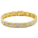 Morgan & Paige 14K Gold Diamond Chevron Bracelet