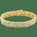 Morgan & Paige 14K Gold Diamond Chevron Bracelet