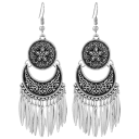 Hollywood Sensation Boho Chandelier Earrings in Tibetan Silver
