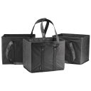 3-Pack: Fit & Fresh Collapsible Shopping Box Bags