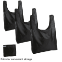 3-Pack: Fit & Fresh Grocery Totes with Pockets and Handles