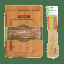 Diamond Home 8-Piece Bamboo Cutting Board and Utensil Set