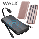 iWalk Scorpion Air 8000 mAh Power Bank with Integrated Cables and Qi Charging