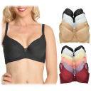 6-Pack: Angelina Wired Padded T-Shirt Bras with Wide Wings