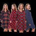 Angelina Flannel Pajamas (Kangaroo Pocket Shirt with Pants or Shirt Dress)