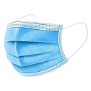 50-Pack: Disposable 3-Layer Face Masks