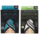 2-Pack: Studio Dry Infused Turbans With Coconut Oil & Argan Oil