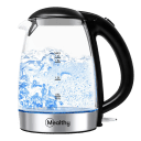 Mealthy 1.7L Electric Glass & Stainless Steel Kettle