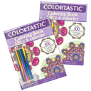 2-Pack: Colortastic Coloring Books with Colored Pencils
