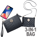 Macbeth 3-in-1 Phone Charging Clutch/Wristlet/Crossbody Handbag