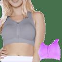 2-Pack: Seamless Zip Front Comfort Bra