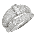 Savvy Cie Double Baguette Pave Bands