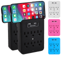 2-Pack: Aduro 6-Outlet Multi-Station With Dual USB Ports