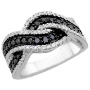 Savvy Cie 0.25 TCW Black Diamond Ring